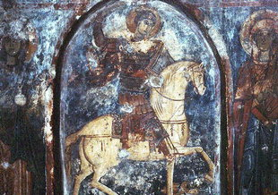 A 13C fresco by Pagomenos, Agios Georgios Church, Anidri ANYDRI (Settlement) PELEKANOS
